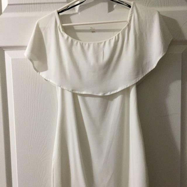 Forever 21 Off the Shoulder White Dress