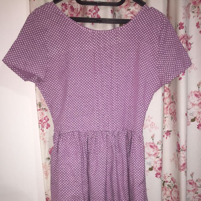 GAUDI purple polka dress