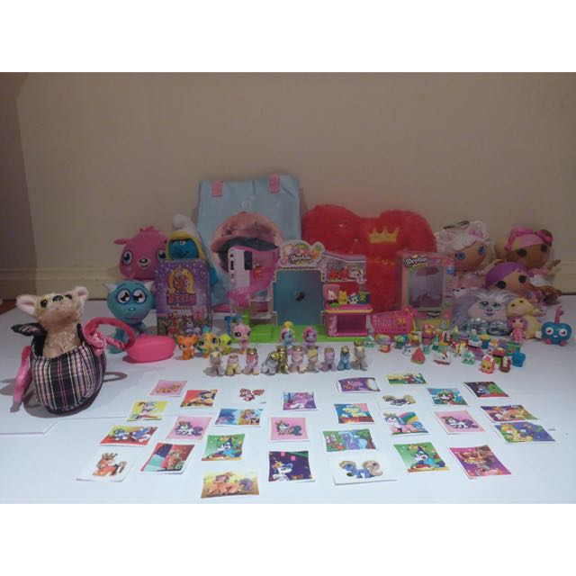 Girls toy pack with HEAPS of AWESOME TOYS! (Lalaloopsies, Shopkins, Filly ponies, ZuZu pets and more!!)