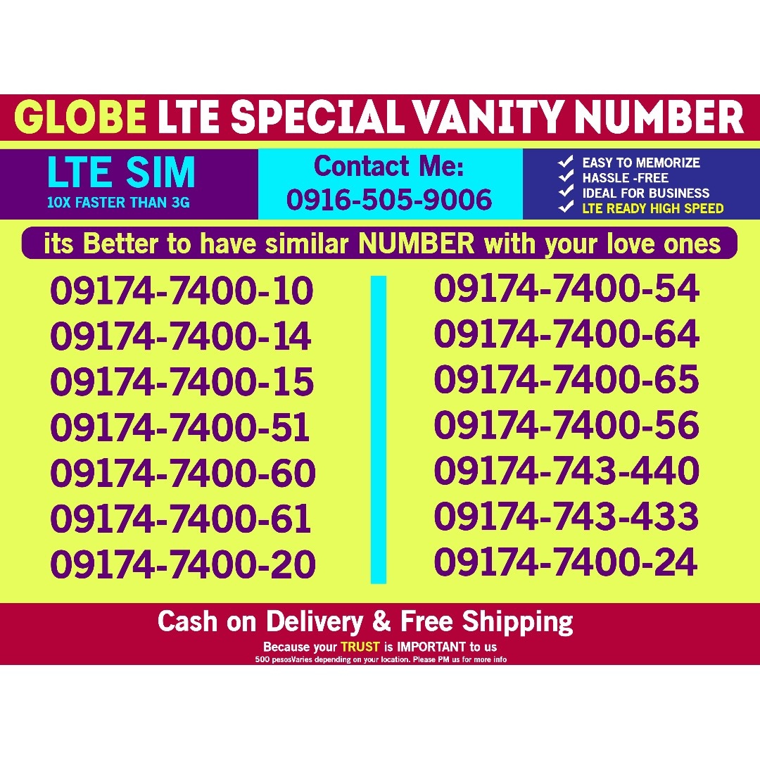 Globe Sim Prefix Number 0917 can be couple