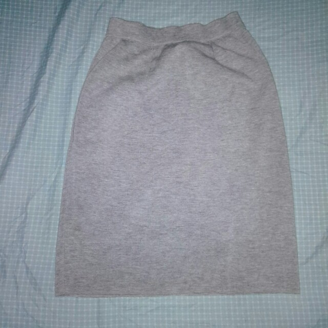 Gray Pencil Skirt