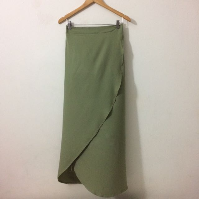 Green Asymmetrical Skirt