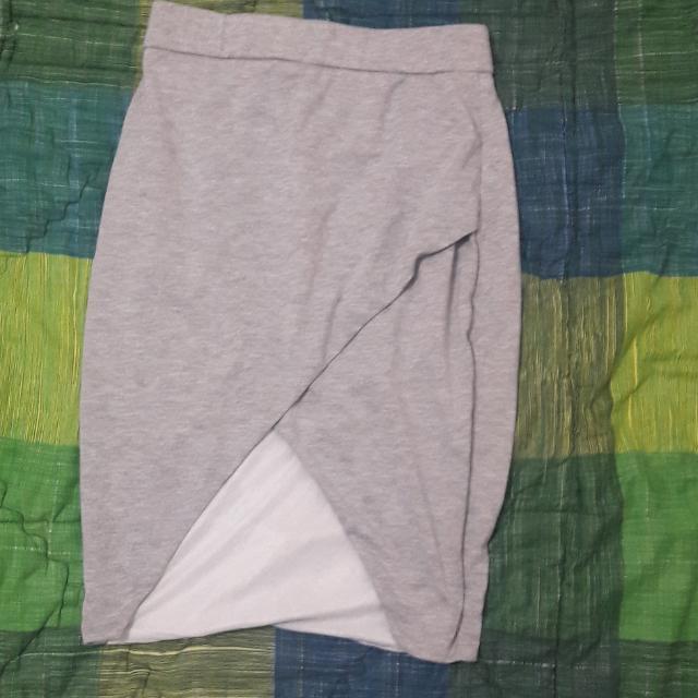 Grey Asymetric Skirt