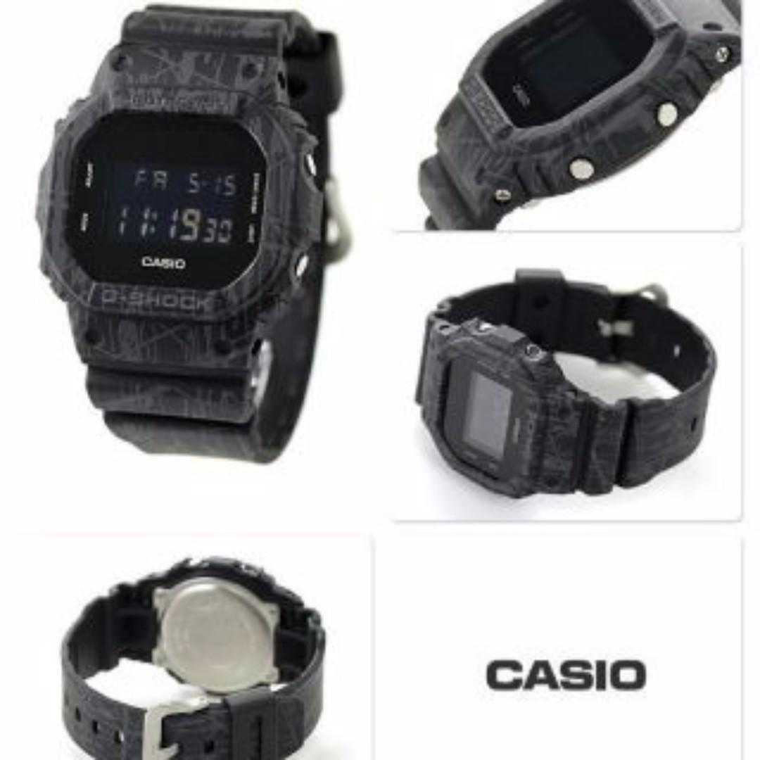6ef24466f71d8 G-Shock G Shock DW-5600 Slash Black - 1 Year Warranty