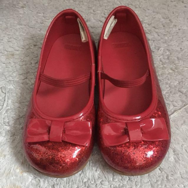 6afe1c3ebb90 Gymboree red shimmer girl bow shoe