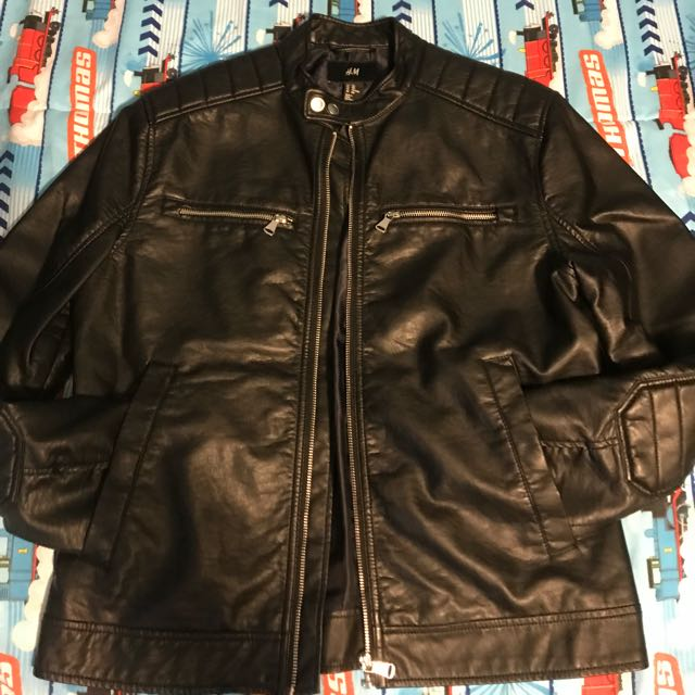H & m leather jacket