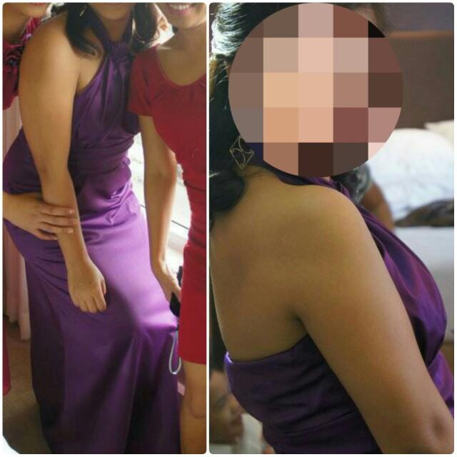 Halter top Long Gown