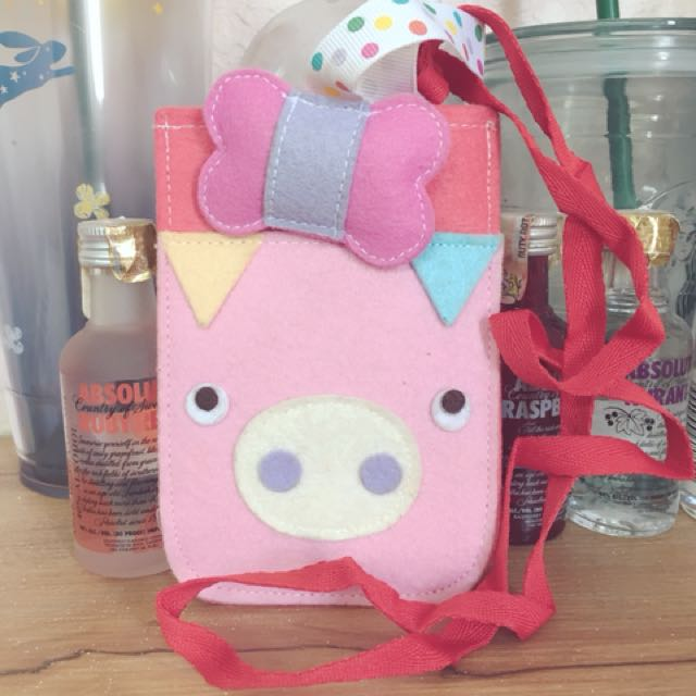 Handmade Pouch with Hanging Strap