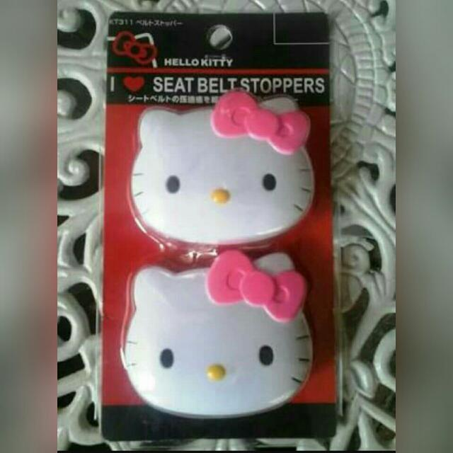 Hello Kitty Seat Belt Stoppers