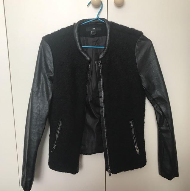 H&M black jacket sze 4