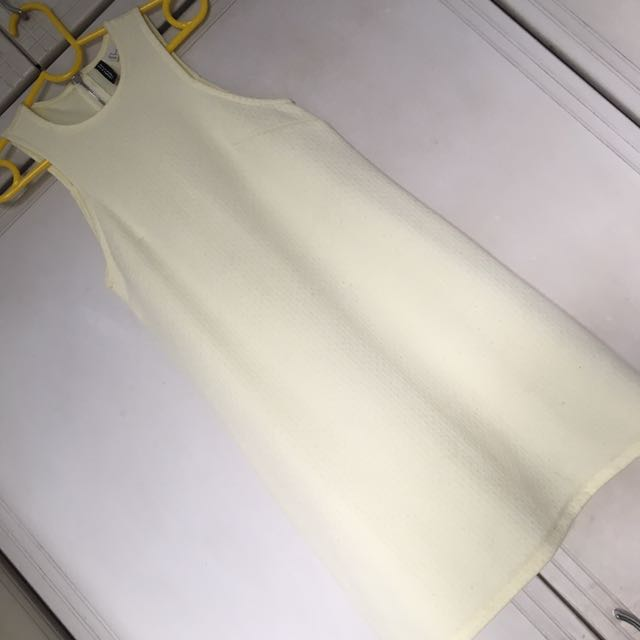 H&M Yellow Textured Aline Dress
