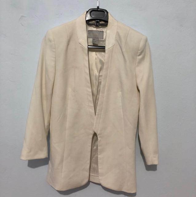 HnM white blazer