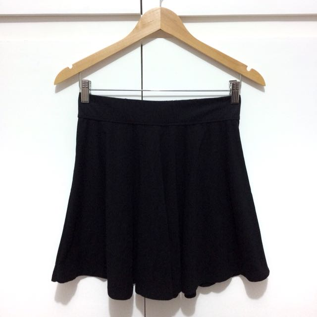 Hollister Black Skater Skirt