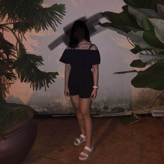 (Inc pos)Off shoulder playsuit
