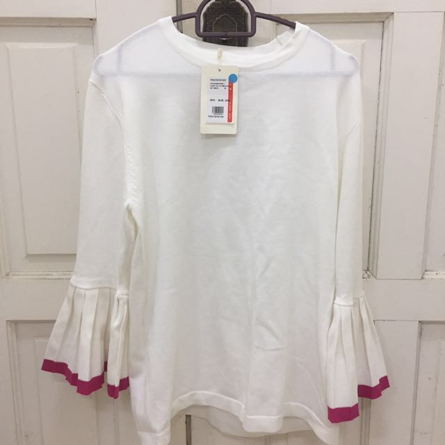 [INCL POSTAGE] BNWT Padini White Bell Sleeve Blouse
