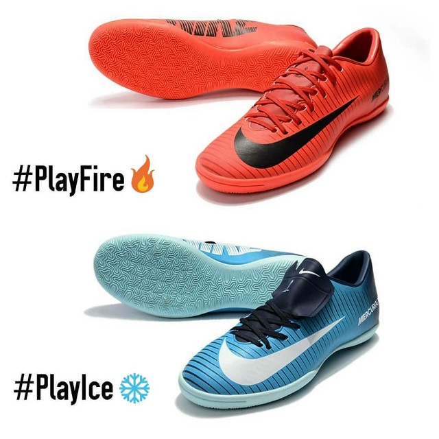 555937817c Kasut Futsal Nike Mercurial Victory Indoor Fire vs Ice