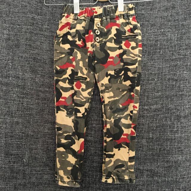Korean Brand Camouflage Boys Pants