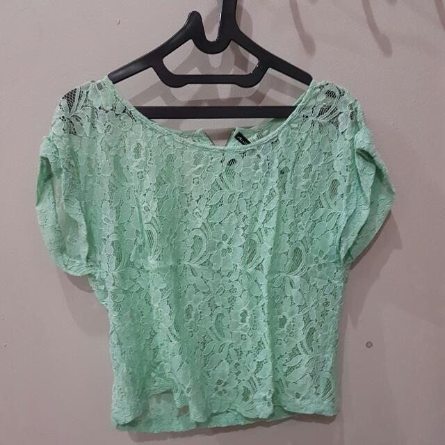 Lace Green Top