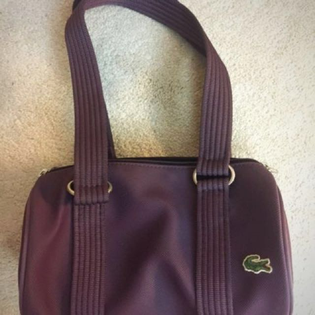 Lacoste Bag Shoulder Tote in Purple
