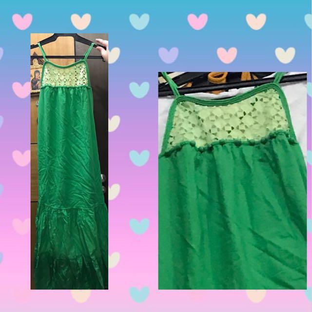 Long Green Dress - medium