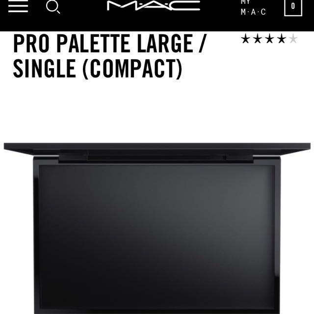 MAC large palettes x4