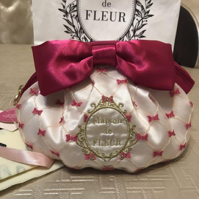 全新日本Maison 蝴蝶結 化妝包 收納包 缺貨 斷貨款