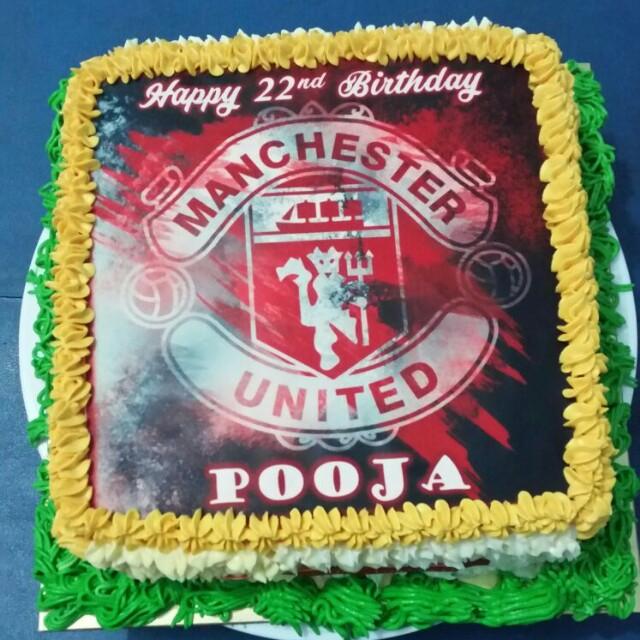 Man United Birthday Cake Food Drinks Baked Goods On Carousell