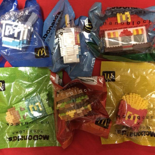 McDonald 麥當勞 Nanoblock 6隻