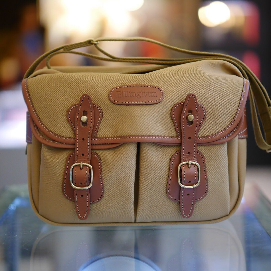Mint Billingham Hadley Small Shoulder Bag Photography On Carousell One Black Canvas Tan Leather Photo