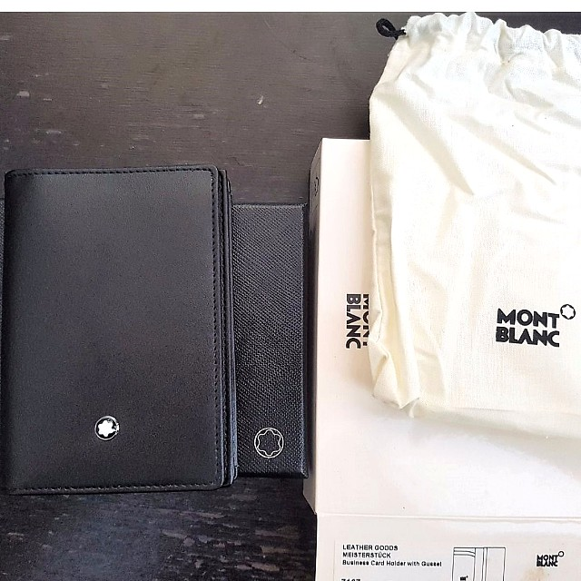 Mont blanc meisterstck business card holder with gusset black photo photo photo photo reheart Images