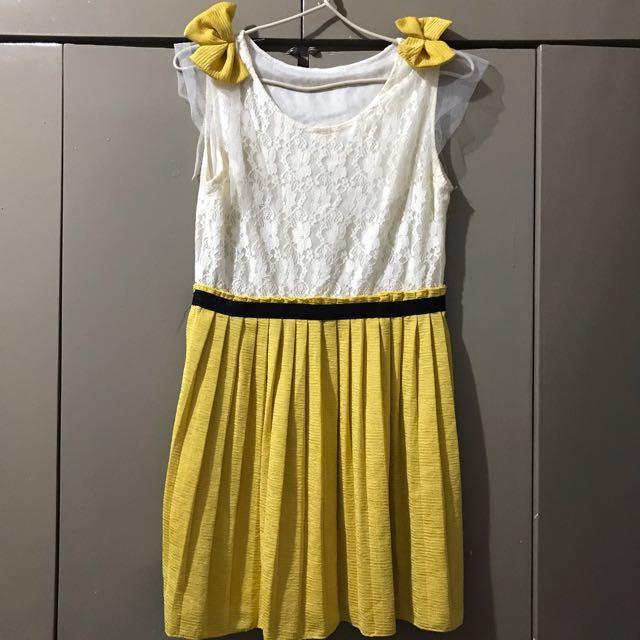 Mustard Korean Dress