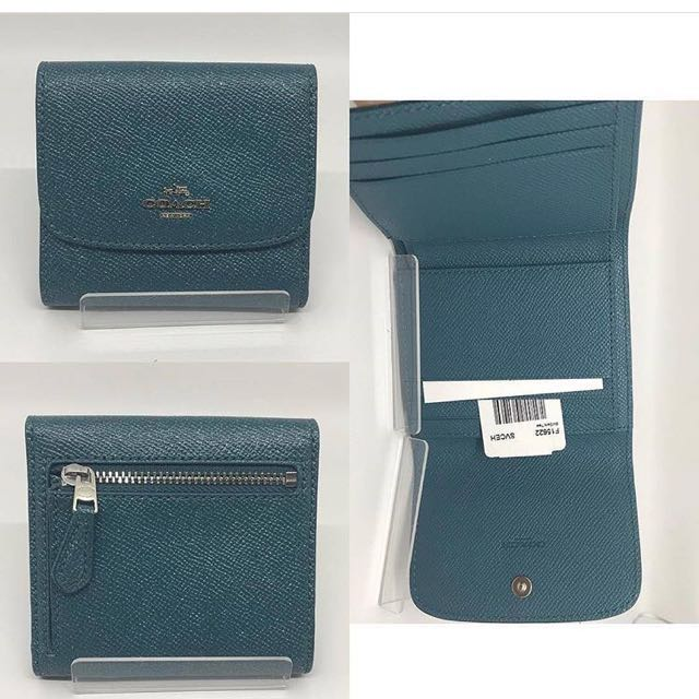NEW COACH WALLET IN DARK TEAL COLORS RARE COLOR YA