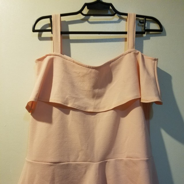 Off Shoulder Pastel Pink blouse