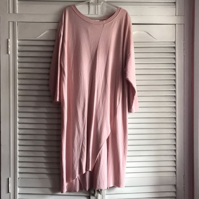 Oversized Pastel Pink Dress