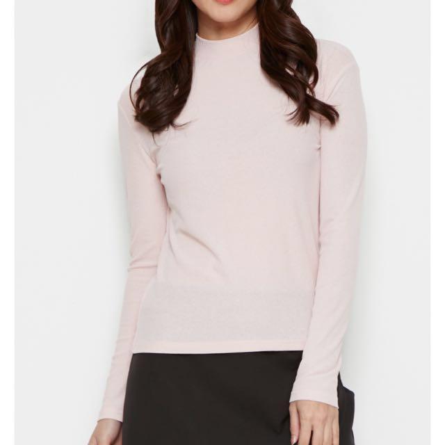 P&Co Light Pink Long Sleeve Tshirt Top