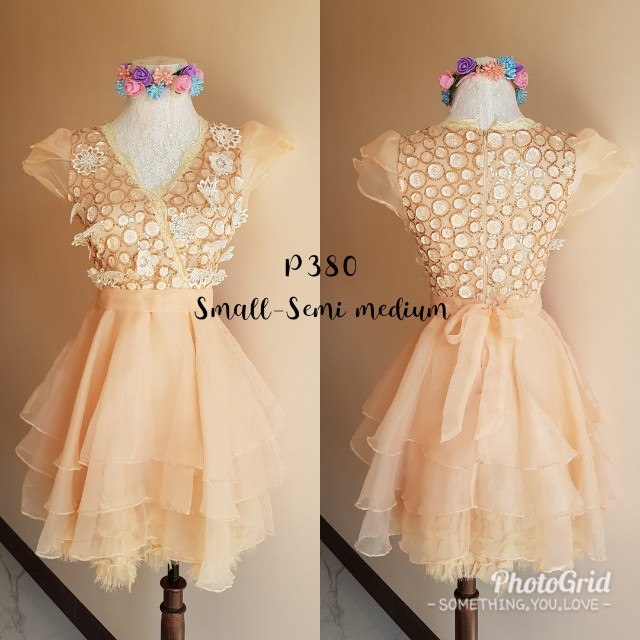 Peach layered dress