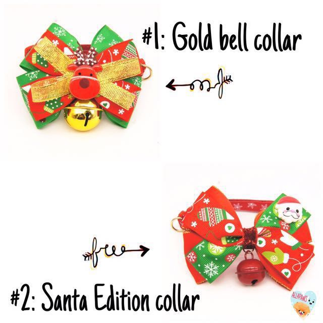 [PO] DOG CAT CHRISTMAS EDITION BOW TIE, COLLAR