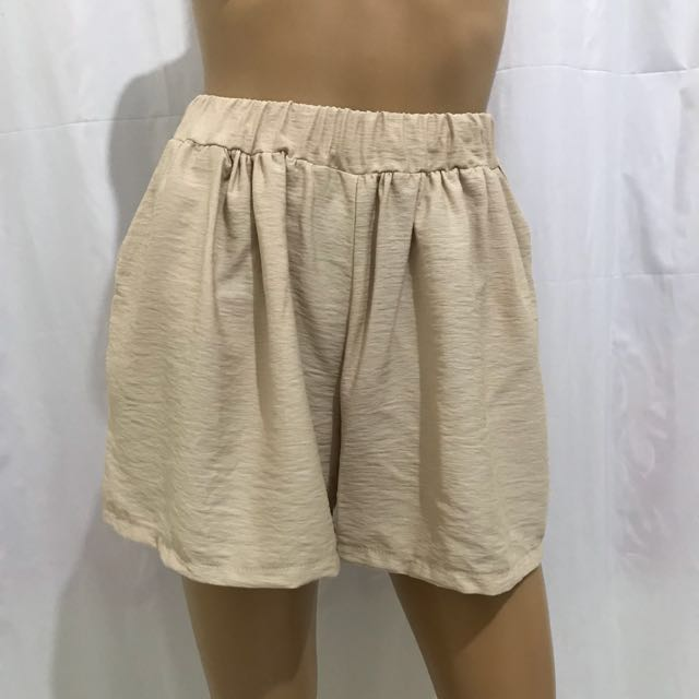 Preloved Stretchable High Waist Shorts Cotton