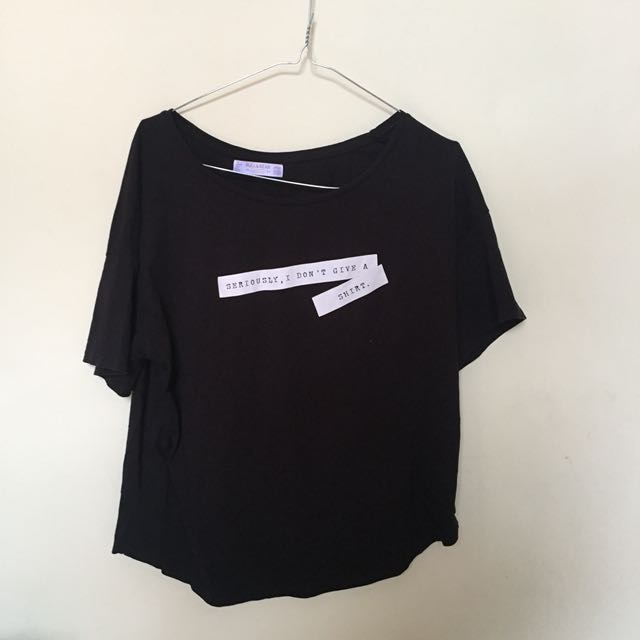 Pull N Bear Black Tshirt