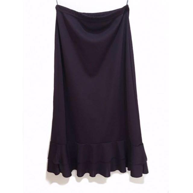 Purple Long Skirt