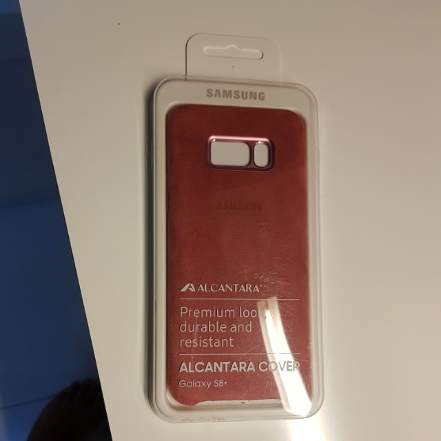 newest 177c3 1552c Samsung S8 plus Alcantara Cover (Pink) Brand new and sealed