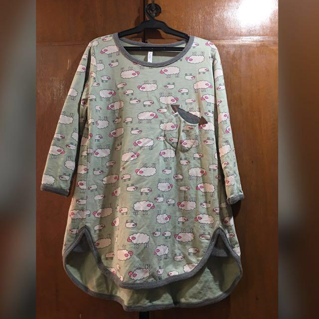Sheep Design Korean Pullover