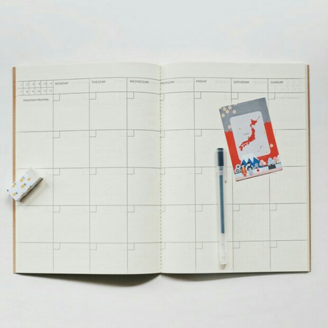 Simple Basic Planner Note monthly planner