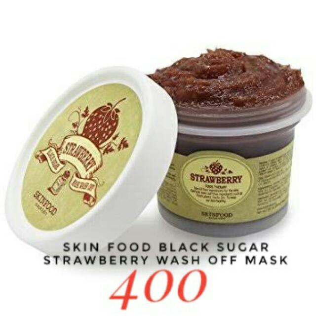 Skin Food Black sugar Strawberry wash Off mask