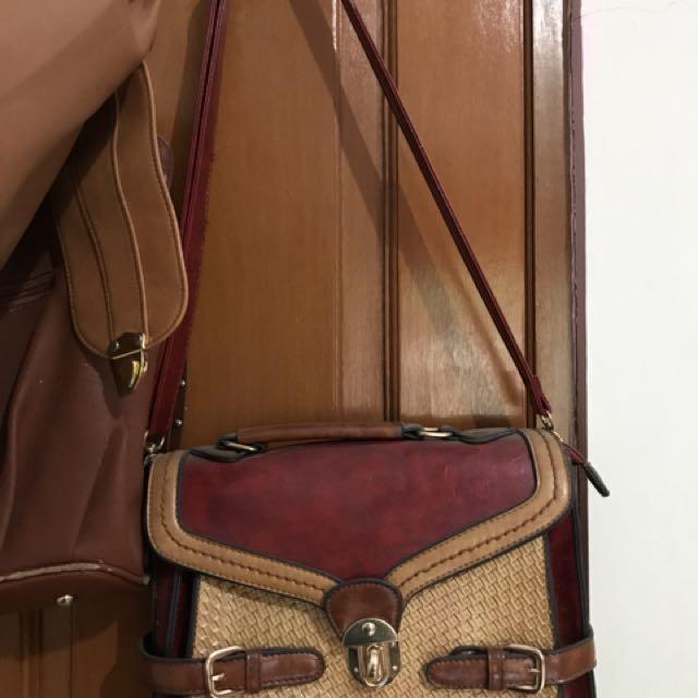 Sling bag anyaman