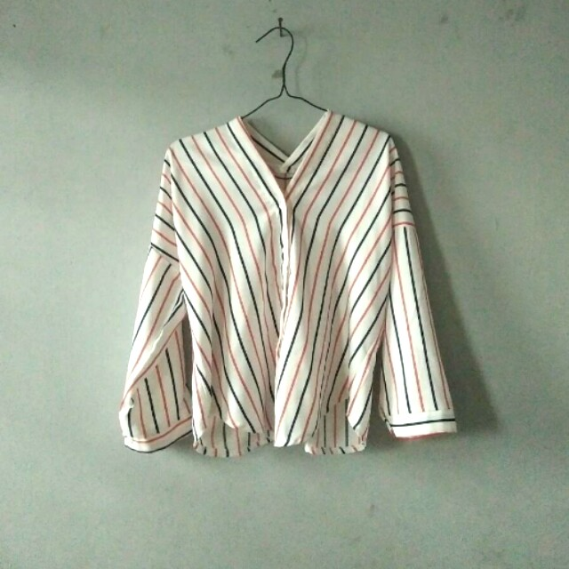 Stripe V Neck (Zara Look A Like)