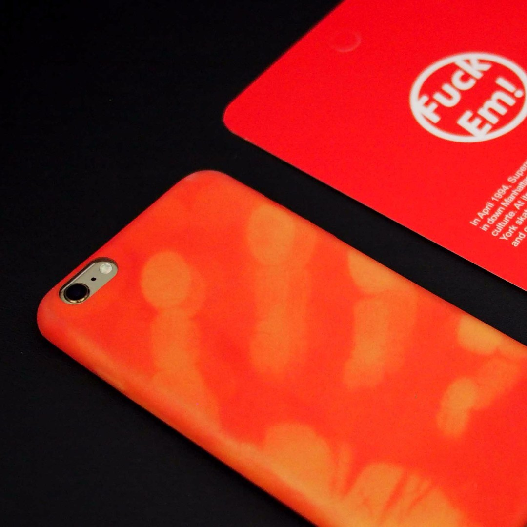 Supreme iPhone 6p 6plus Mobile Phone Case (Red-Orange)