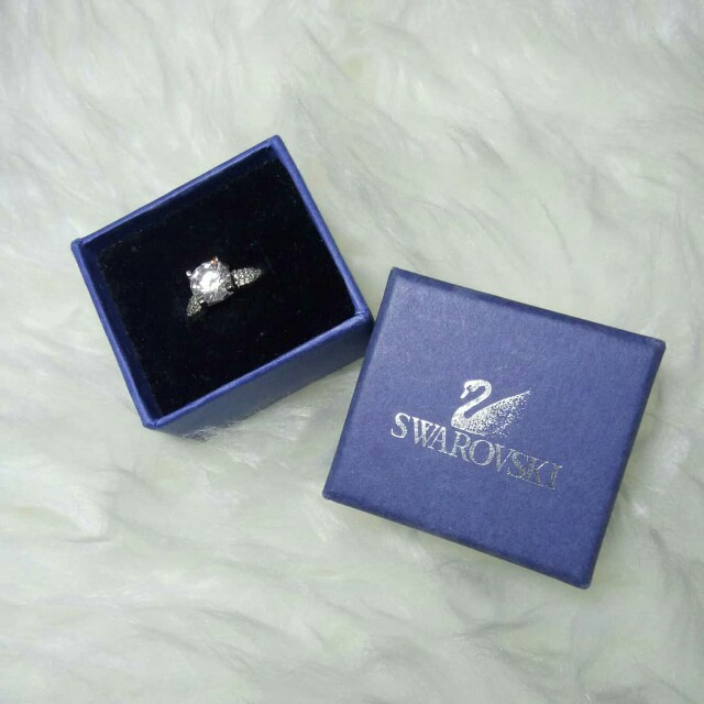 Swarovski high solitare micro diamond ring