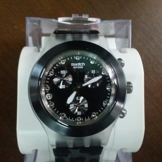 Swatch Full-Blooded Night Chronograph Unisex Watch
