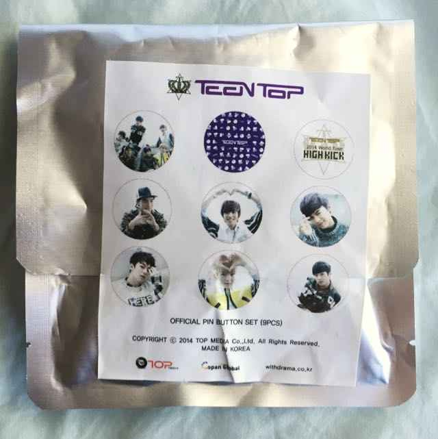 TEEN TOP PIN BUTTON SET